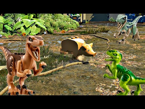 Lego Jurassic World 4.Динозавры на Охоте.Мир Юрского Периода.Лего мультики про Динозавров.#Lego