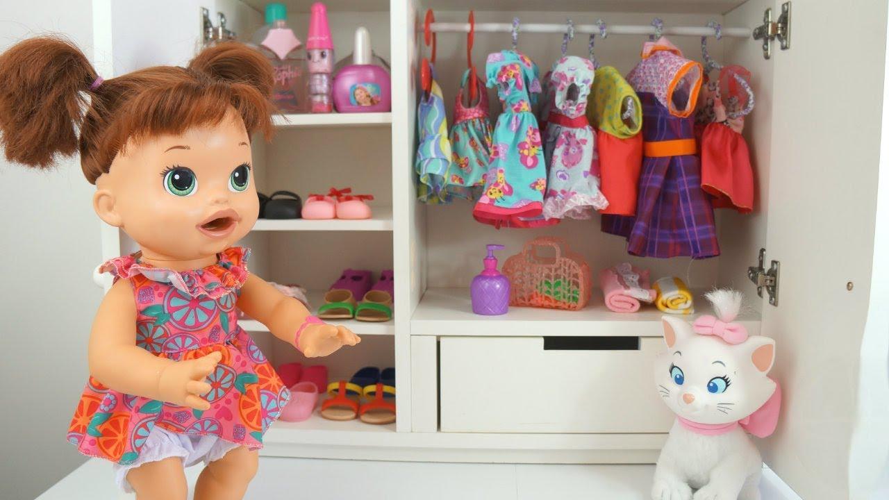Baby Alive Organizando O Guarda Roupa Minha Boneca Sara
