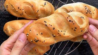 Cách làm BÁNH MÌ TƯƠI - Bánh mì Việt Nam VỎ GIÒN RUỘT MỀM