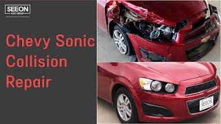 쉐보레 소닉 사고 수리 Chevy Sonic Body damage Collision Repair [SEEON AUTO - 달라스 시온 오토바디]