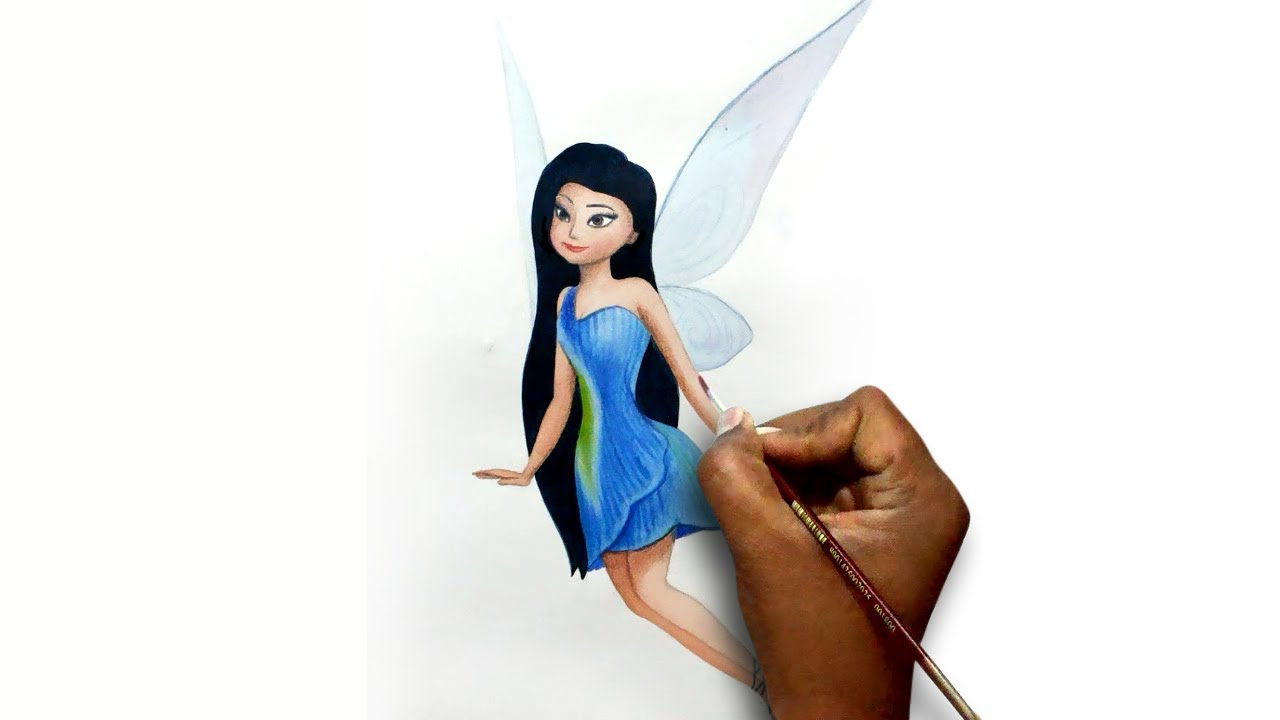 how to draw Tinker Bel...