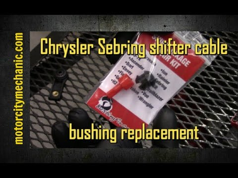 Chrysler Sebring shifter cable bushing replacement - YouTube