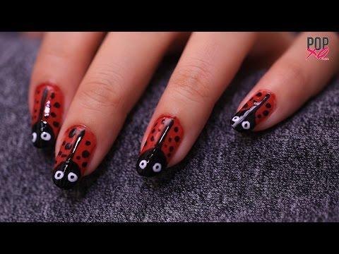 Diy Lady Bug Nail Art Nail Art Designs Popxo Youtube