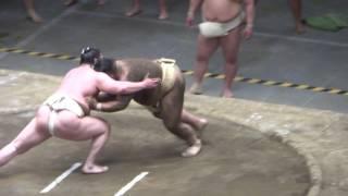 20170503 大相撲夏場所 稽古総見 横綱白鵬vs高安可愛がり.