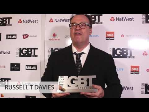 British LGBT Awards 2017 - Backstage with winner Russell T Davies