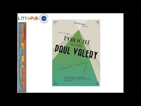 Publicité signée Paul Valéry / ANR LITTéPUB