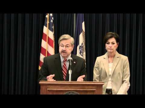 Gov. Branstad and Lt. Gov. Reynolds' weekly press conference