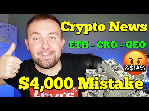 Daily Crypto Update - VISA Accepts USDC - ETH and CRO Pump - $4,000 Mistake 🤬