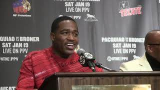 Adrien Broner at post fight presser for Pacquiao fight: I feel like I won the fight