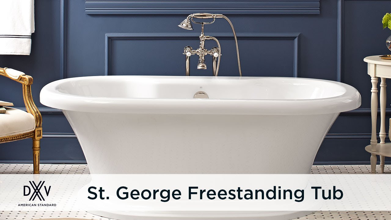 St. George Freestanding Tub by DXV - YouTube