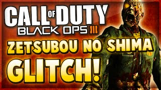 Black Ops 3 Zombies Glitches - ZETSUBOU NO SHIMA Pile Up Glitch On Top of Plant Barrier! (COD BO3)