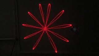 LASER Lissajous patterns..geometric designs /// Homemade Science with Bruce Yeany