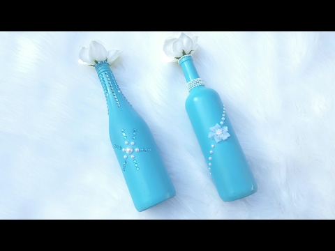 WEDDING DIY COLLAB w/ Beverly's Design Time   Upcycled Bottles