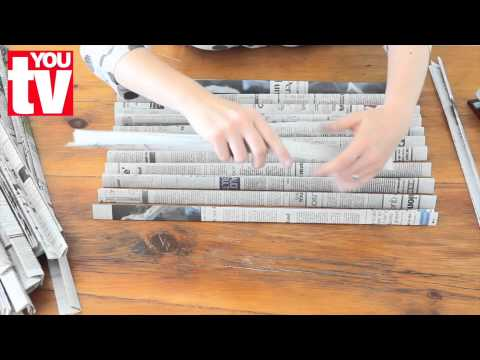 Tip Make A Basket Out Of Newspaper Youtube