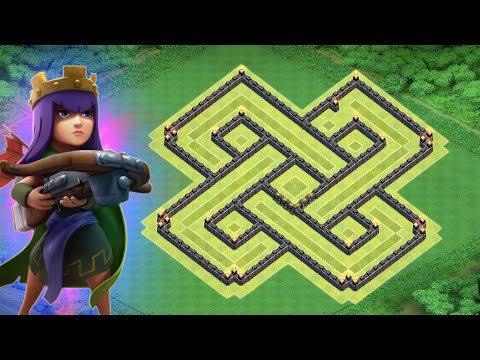 CLASH OF CLANS TH8 WAR BASE + AIR SWEEPER / TOWN HALL 8 DEFENCE ANTI DRAGON, ANTI HOGS 2015