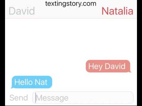 David Thewlis and Natalia Tena texting