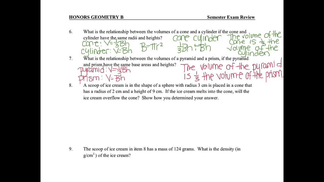 2015 Honors Geometry Exam Review - Unit 3 - YouTube