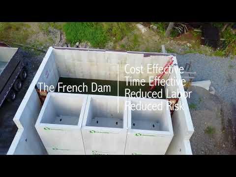 French Development Enterprises & Oldcastle Precast - Rapid Dam Construction
