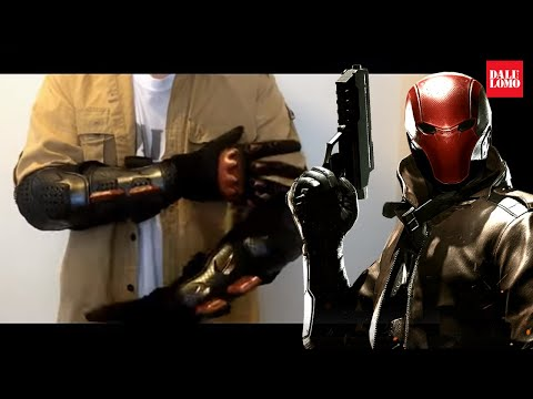 DIY Red Hood Gauntlet made from Actual Bike Body Armor Cosplay How to