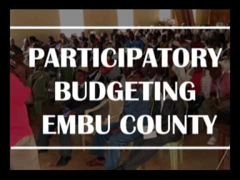 Participatory Budgeting Radio Show about Embu County, Kenya