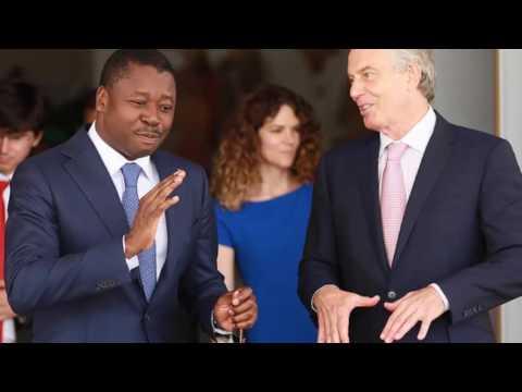 Tony Blair, l'ancien Premier ministre du Royaume-Uni en visite à Lomé chez Faure Gnassingbe