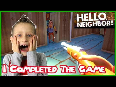 I Completed The Game / Hello Neighbor (Alpha 2)