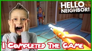 I Completed The Game  Hello Neighbor (Alpha 2)