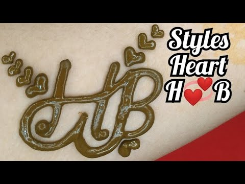 Valentine Day Special And Combination Joint Heart H💞B Stylish Mehandi Design