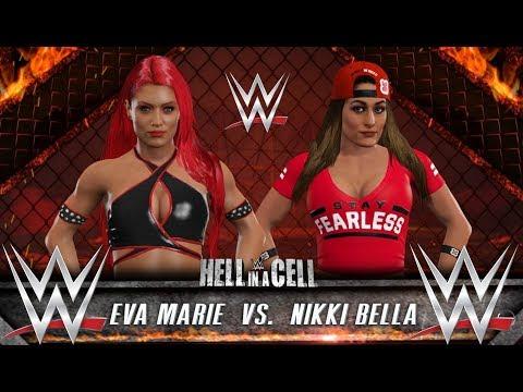 EVA MARIE VS NIKKI BELLA - WWE 2K17