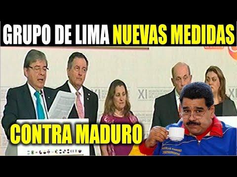 Ultimas noticias, GRUPO DE LIMA ANUNCIA NUEVAS MEDIDAS CONTRA MADURO 25/02/2019