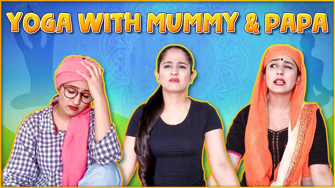 Yoga with Mummy Papa   Rakhi Lohchab  