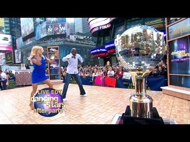 Donald Driver, Peta Murgatroyd Dance on GMA: Dancing with the Stars Champs Perform the Cha-Cha