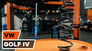 How to replace Suspension springs on VW GOLF IV (1J1) - video tutorial