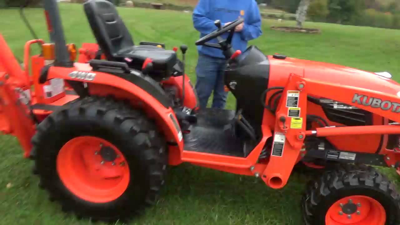 2017 Kubota B2920 Compact Tractor Loader Backhoe Tlb 4x4 For