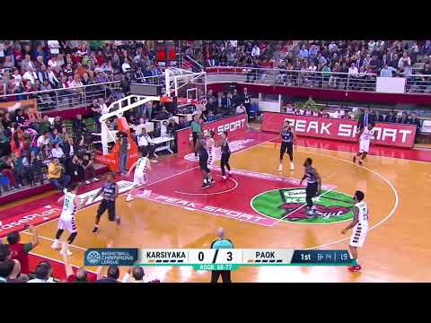 Basketball Champions League - Berk Ugurlu (12 p.) vs PAOK