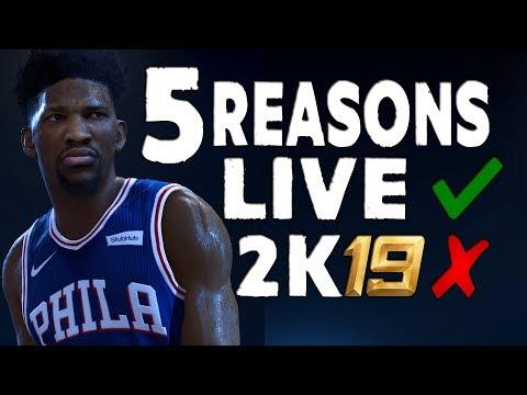 5 Reasons to Buy NBA Live 19 OVER Nba 2k19!!