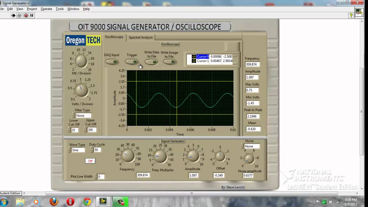 how to use function generator and oscilloscope