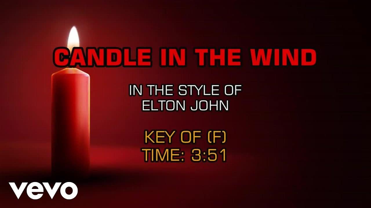 Elton John - Candle In The Wind (Karaoke) - YouTube