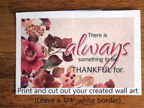Tutorial to create your own Custom Wall Art in 5 minutes using Nitwit Collections Products