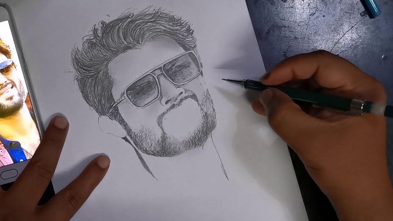 Vijay Devarakonda   Quick Sketch   Pencil Drawing   How to ...