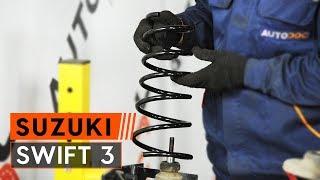 Kaip pakeisti Stabdžių trinkelių komplektas SUZUKI SWIFT III (MZ, EZ) - internetinis nemokamas vaizdo
