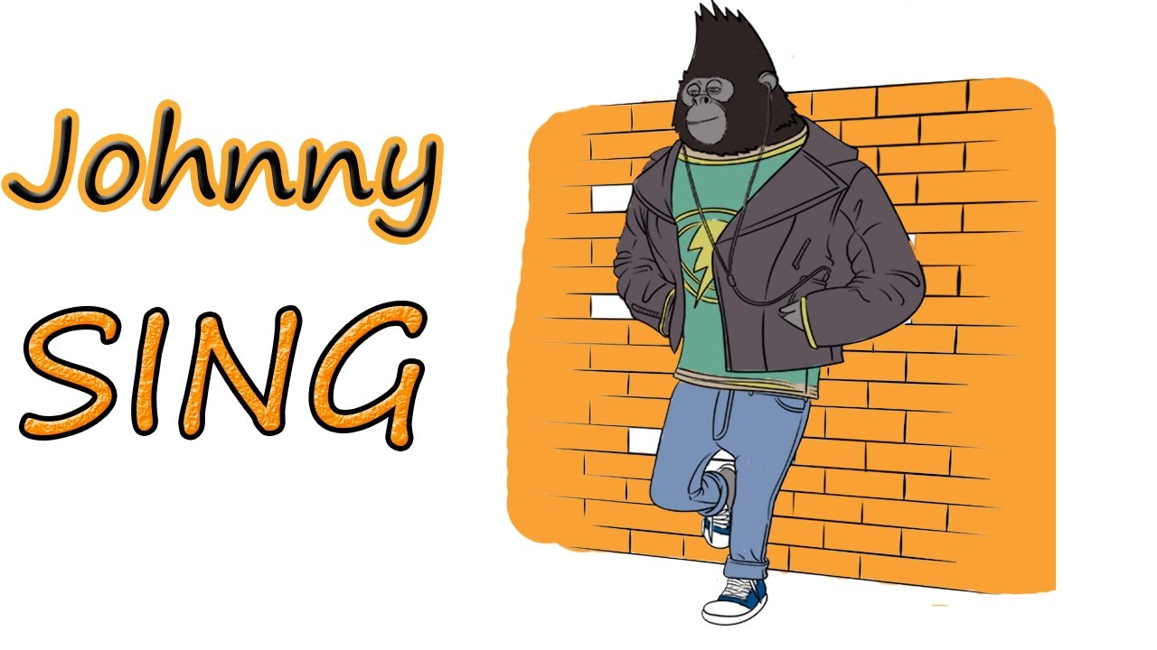johnny gorilla sing movie coloring book pages learn colors for