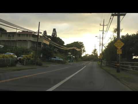 driving through Makawao, Maui, Hawaii