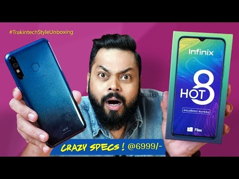 Infinix HOT 8 Unboxing & First Impressions ⚡⚡ Crazy..Crazy Specs at 6999!!