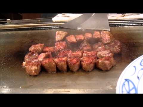 Places to eat in Japan - Kobe Beef Teppanyaki Set Menu at Steak Land - Melts in your mouth!