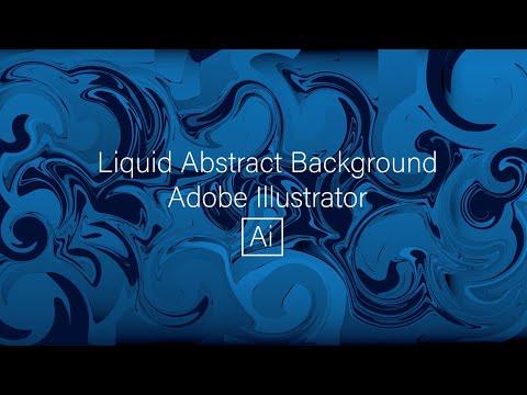 Adobe Illustrator Tutorial - Liquid abstract background thumbnail