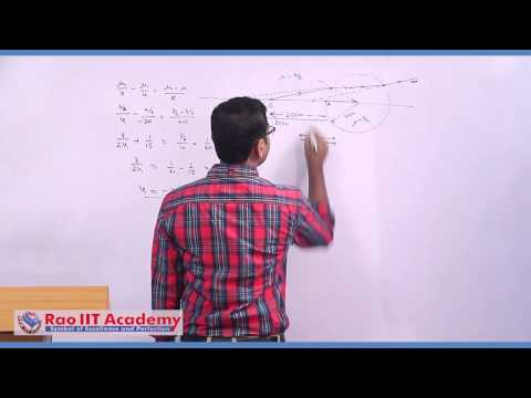 Refraction of Light at Curved Surface - IIT JEE Main and Advanced Physics Video Lecture