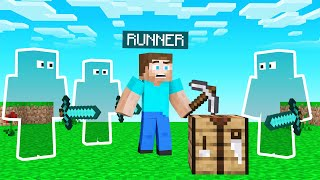 INVISIBLE HUNTERS Vs SPEEDRUNNER In Minecraft!