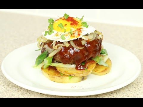 "BEEF ""HAMBURGER"" STEAK RECIPE - ハンバーグ - Salisbury Steak inspired"
