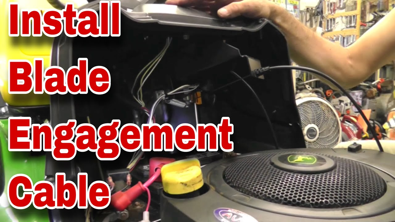 hight resolution of how to install a blade engagement cable or clutch cable on john deere and craftsman lawn mowers
